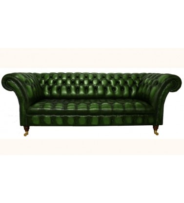 Chesterfield Balmoral Genuine Leather Antique Green 2 Seater Sofa