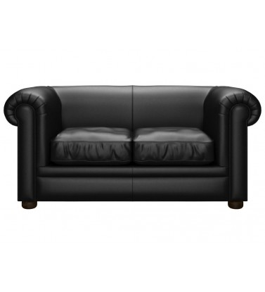 Chesterfield Kensington Genuine Leather Shelly Black 2 Seater