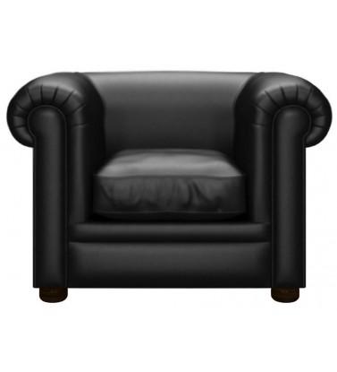 Chesterfield Kensington Genuine Leather Shelly Black Armchair